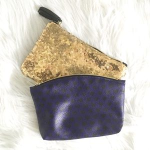 Set of 2 Cosmetic/Makeup Pouches-Bags